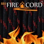 【Bush Craft】 Live Fire Gear 550 Fire Cord シンレッドライン 7.62メートル(25ft)