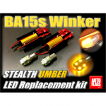【autoflags】 BA15sアンバーLEDセット A for デリカD:5